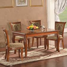 Indian Style Dining Tables Brown Color 100 Solid Wooden Tree Daing Table With 6 Seater