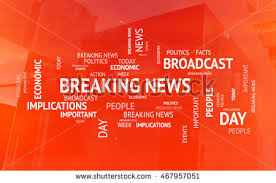 Concept Of Breaking News Politics And Economic Tags 3D Illustration Abstract Broadcast Background