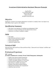 Objective For Resumes Cover Letter Amusing Office Assistant Skills Resume With Administrative