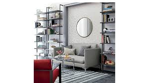 Cb2 Frost Sleeper Sofa by Smart Chrome And Glass Side Table Cb2
