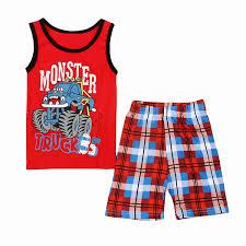 100 Monster Truck Pajamas Amazoncom Vest Outfit Set For Little Boys Cotton
