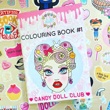 Candy Doll Club Colouring Book 1