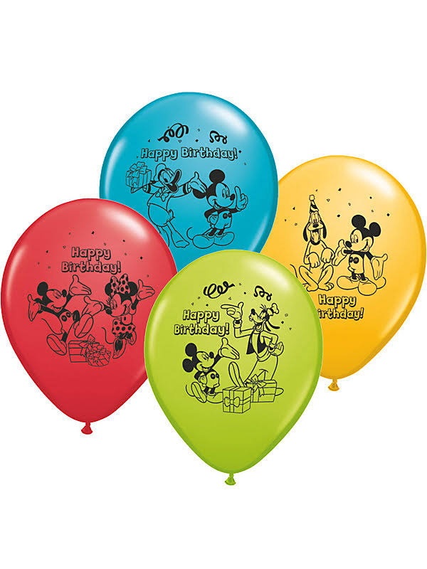 "Pioneer Balloon Company Mickey Mouse Latex Balloons - 12"", 6ct"