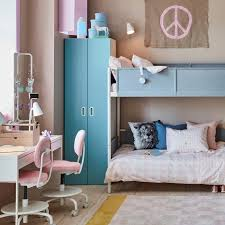 Kids Bedroom Ideas | Kids Bedroom Inspiration - IKEA Apartment Living Room Interior With Red Sofa And Blue Chairs Chairs On Either Side Of White Chestofdrawers Below Fniture For Light Walls Baby White Gorgeous Gray Pictures Images Of Rooms Antique Table And In Bedroom With Blue 30 Unexpected Colors Best Color Combinations Walls Brown Fniture Contemporary Bedroom How To Design Lay Out A Small Modern Minimalist Bed Linen Curtains Stylish Unique Originals Store Singapore