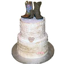 2016 Rustic 2 Tier Cake With 3 Boots