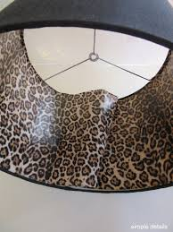 Simple Details DIY Lamp Shade With Leopard Print Lining