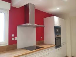 cuisine mur framboise peinture mur cuisine rustique idée de modèle de cuisine