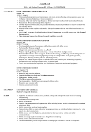 Download Office Administration Resume Sample As Image File