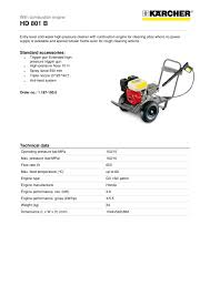 High Pressure Washer Hds 7 by High Pressure Washer Hd 801 B Kärcher Pdf Catalogue