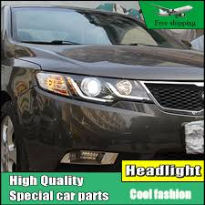 car styling l for kia forte headlights 2010 2014