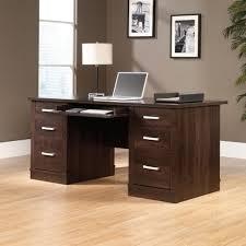 Sauder Office Port Executive Desk Instructions by Sauder Shoal Creek Executive Desk With Hutch In Diamond Ash