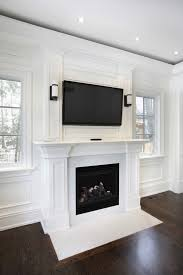 Living Room With Fireplace In The Middle by 49 Exuberant Pictures Of Tv U0027s Mounted Above Gorgeous Fireplaces