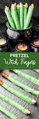 Halloween Pretzel Sticks by Pretzel Witch Fingers Homemade Hooplah