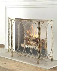 fireplace mesh screen kit home depot canada rods single panel