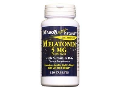 Mason Natural Melatonin 5 Mg With Vitamin B-6 Tablets - 120 Ea