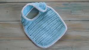 crochet How To Crochet a Newborn Baby Bib Yarn Scrap Friday