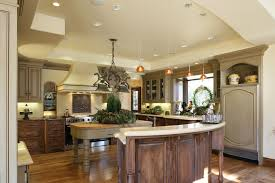 taupe cabinets kitchen rustic with ceiling lighting halogen
