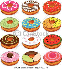 Cute Donut Clipart Set