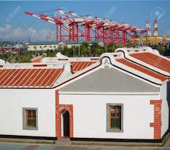 100 Container Houses China Traditional Chinese Farm With Cranes In The Stock