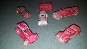 100 Tootsie Toy Fire Truck VINTAGE 1930S TOOTSIETOY FIRE TRUCK CAMPING TRAILER CARS