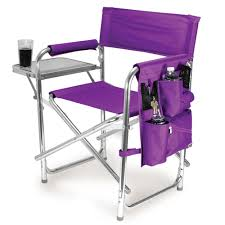 100 Folding Chairs With Arm Rests Sports Chair Purple Picnic Time 80900101