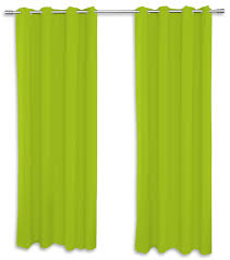 2er set ösenvorhang vorhänge grün 140x260 cm gardinen schal dekoschal wohnzimmer one home