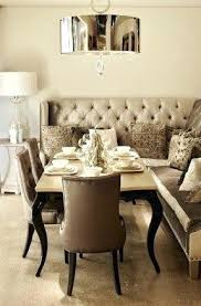 Upholstered Dining Room Bench Table With Back