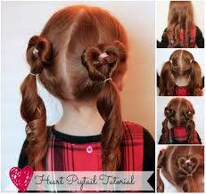 How To Cute Heart Pigtails Hair Style Step By DIY Tutorial Instructions 512x483