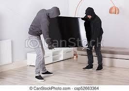 räuber stehlen fernsehen aus dem wohnzimmer männerräuber in
