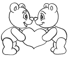 Love Coloring Pages Teddy Bear In