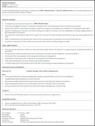 Resume Office Administrator Assistant Samples For Medical