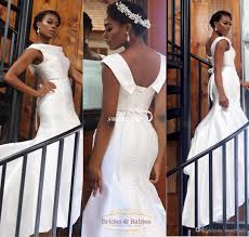 aso ebi style white women formal evening dresses mermaid satin