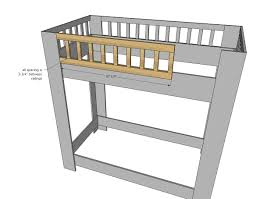 ana white rustic modern bunk bed diy projects