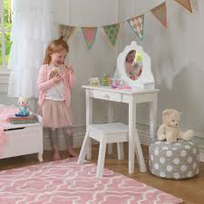 medium vanity stool white