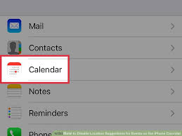 How to Disable Location Suggestions for Events on the iPhone Calendar