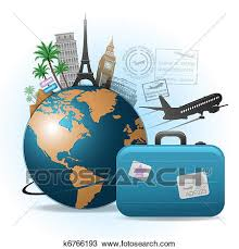 Clipart Of Travel Background K6766193