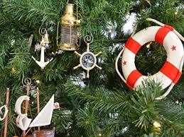 Hampton Nautical Brass Ship Wheel Compass Christmas Tree Ornament