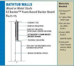 propanel backer board ez backer foam based backer board is light