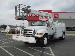 2007 FORD F750 BUCKET BOOM TRUCK FOR SALE #584074