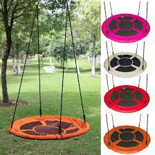 Outdoor Round Hanging Rope Nest Tree Swing Seat Kids Children Garden Play Toy