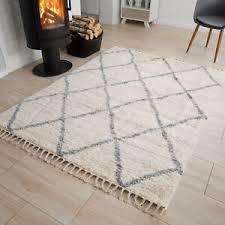 teppich fransen langflor modern marokkanisch wohnzimmer