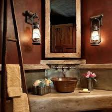 Rustic Bathroom Lighting Ideas by Impressive Rustic Bathroom Lighting Ideas Rustic Bathroom Lighting