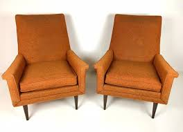 Pair Of ORANGE Mid Century MODERN High Back Accent ... Midcentury Modern Comfortable Light Grey Cashmere Lounge Chair High Back Buy Mid Century Chairhigh Chairlounge Georg Jsen Mahogany And Rope 1967s Danish High Back Mid Century Lounge Chair 1970s Design Market Hughes Refinished Solid Teak Mcm Recling Perfect Will Be Upholstered For You Vintage Dux La Authentic Milo Baughman Reclinerlounge In Black 1960s Midcentury Finds Set Of His Hers Parlor Chairs Whosale Ding Room Fniture Adrian Pearsall Slim Jim 1865c