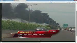 Large Fire Burning In New Orleans East