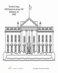 Second Grade Social Studies Worksheets White House Coloring Page