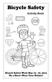 Bicy Elegant Bike Safety Coloring Pages