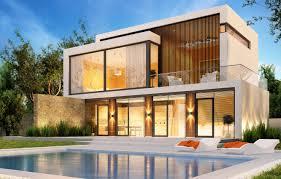 100 Modern Houses Wallpaper Trees Design House Lawn Pool Modern Houses