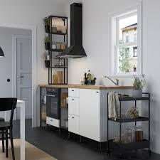 enhet küche anthrazit weiß 243x63 5x241 cm