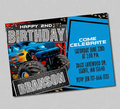 Monster Truck Mudslinger Birthday Invitation , Monster Truck Invites ... Birthday Monster Party Invitations Free Stephenanuno Hot Wheels Invitation Kjpaperiecom Baby Boy Pinterest Cstruction With Printable Truck Templates Monster Birthday Party Invitations Choice Image Beautiful Adornment Trucks Accsories And Boy Childs Set Of 10 Monster Jam Trucks Birthday Party Supplies Pack 8 Invitations