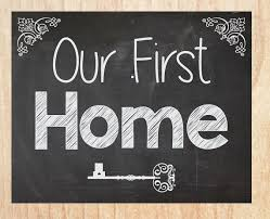 Our First Home Sign Chalkboard INSTANT PRINTABLE New House Photo Prop Announcement Housewarming